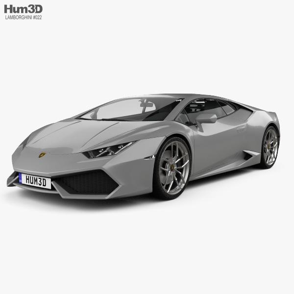 Lamborghini Huracan 2014 3D model