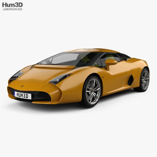 3D model of Lamborghini 5-95 Zagato 2014