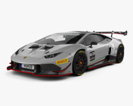 3D model of Lamborghini Huracan (LP 620-2) Super Trofeo 2014