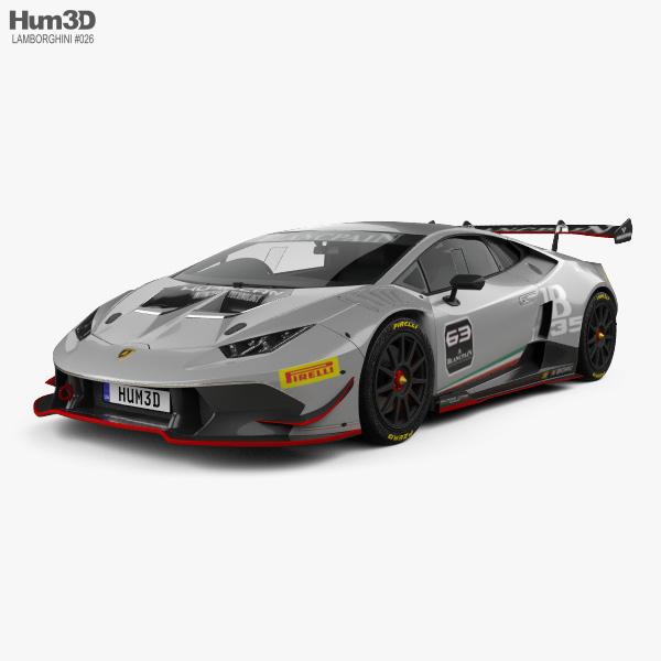 3D model of Lamborghini Huracan (LP 620-2) Super Trofeo 2014