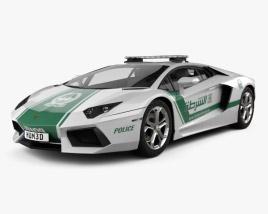 3D model of Lamborghini Aventador Police Dubai 2013