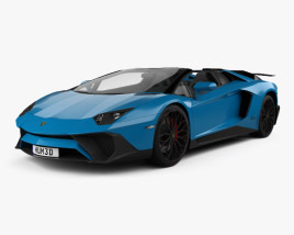 3D model of Lamborghini Aventador LP 750-4 Superveloce Roadster 2015