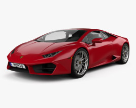 3D model of Lamborghini Huracan LP 580-2 2015