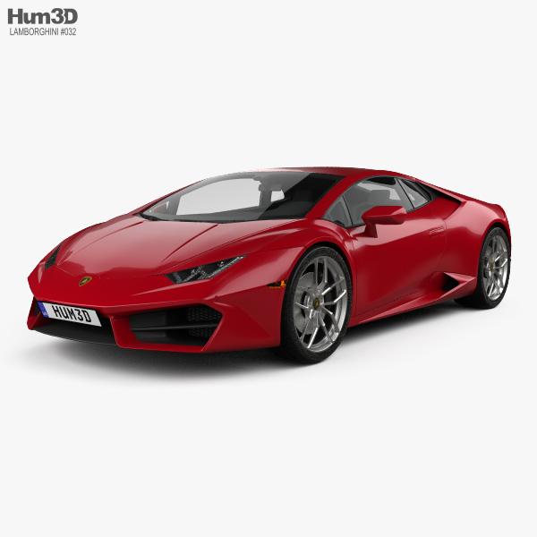Lamborghini Huracan LP 580-2 2015 3D model