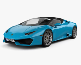 3D model of Lamborghini Huracan LP 610-4 Spyder 2015