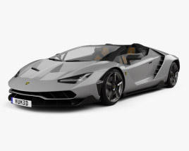 3D model of Lamborghini Centenario roadster 2017