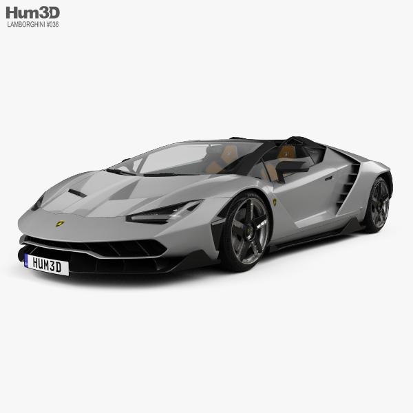 Lamborghini Centenario roadster 2017 3D model