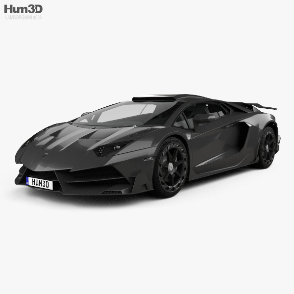 3D model of Lamborghini Aventador LP 750-4 Mansory Superveloce JS1 Edition 2016