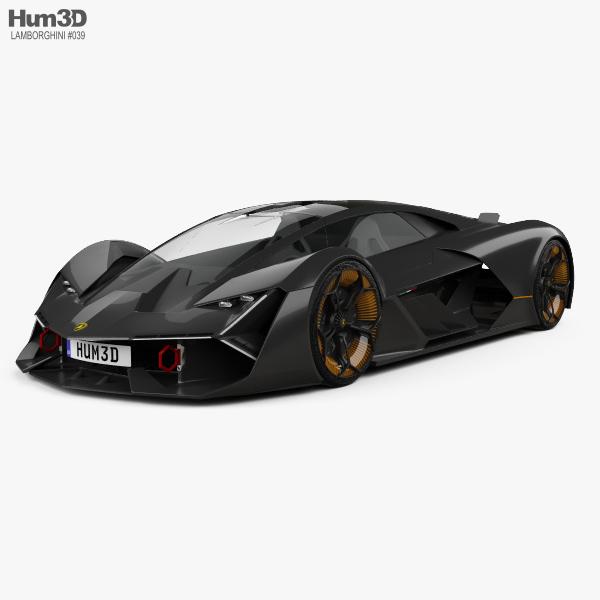 Lamborghini Terzo Millennio 2017 3D model