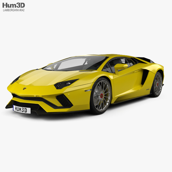 3D model of Lamborghini Aventador S 2017