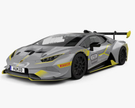 3D model of Lamborghini Huracan Super Trofeo Evo Race 2018