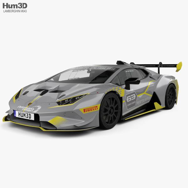 3D model of Lamborghini Huracan Super Trofeo Evo Race 2018