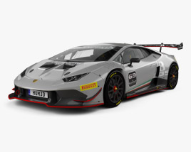 3D model of Lamborghini Huracan Super Trofeo with HQ interior 2014