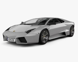 Lamborghini Reventon with HQ interior 2009 3D model