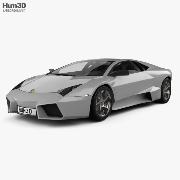 Lamborghini Reventon with HQ interior 2009 3D model
