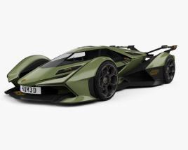 3D model of Lamborghini V12 Vision Gran Turismo 2020