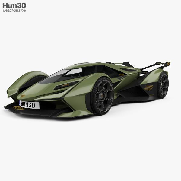 Lamborghini V12 Vision Gran Turismo 2020 3D-Modell