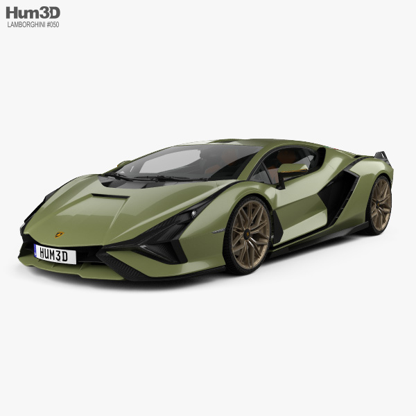 Lamborghini Sian with HQ interior 2020 3D model
