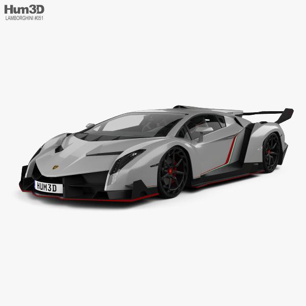 Lamborghini Veneno with HQ interior 2013 3D model