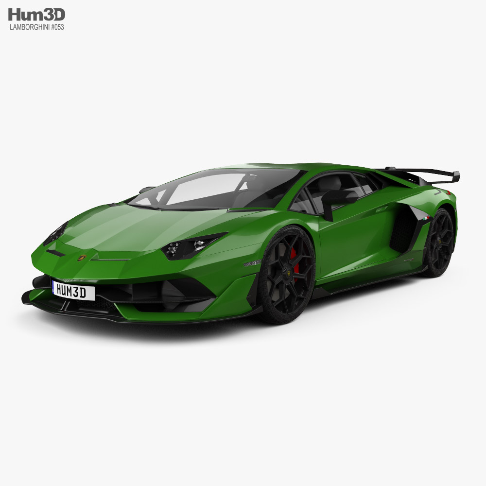 3D model of Lamborghini Aventador SVJ coupe 2019