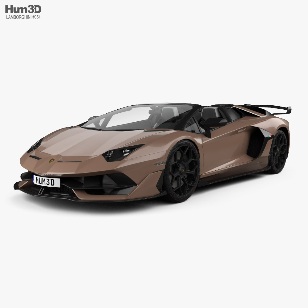 3D model of Lamborghini Aventador roadster SVJ 2019