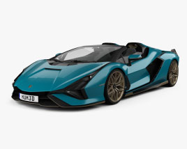 3D model of Lamborghini Sian Roadster 2020
