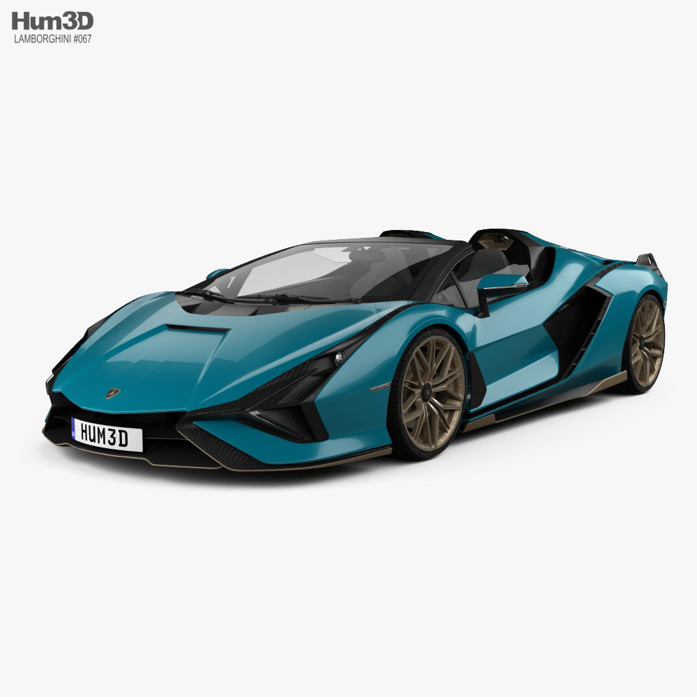 3D model of Lamborghini Sian Roadster 2020