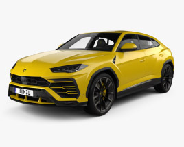 3D model of Lamborghini Urus with HQ interior 2019