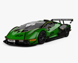 3D model of Lamborghini Essenza SCV12 2021