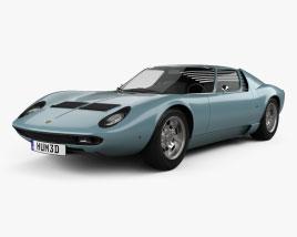 3D model of Lamborghini Miura P400S 1970