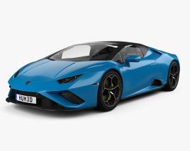 3D model of Lamborghini Huracan EVO RWD Spyder 2020
