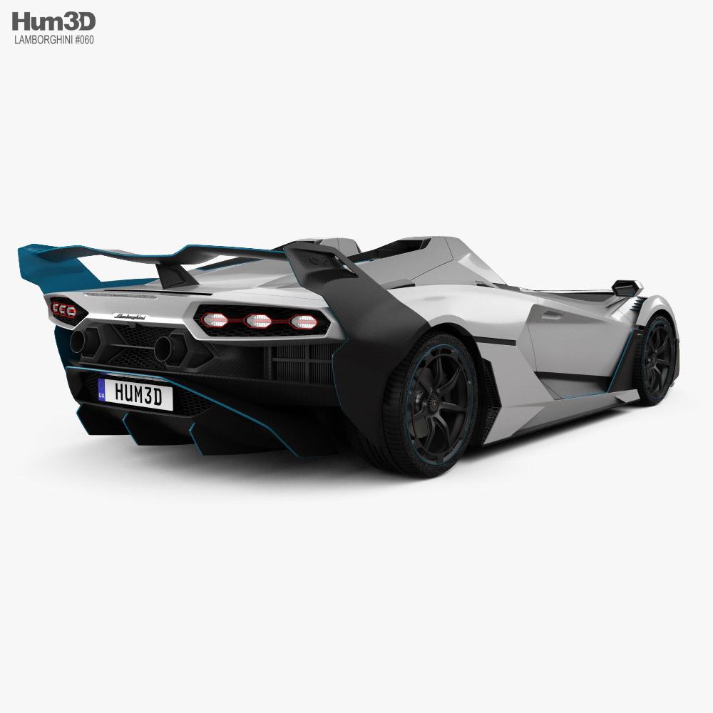 Lamborghini SC20 2020 3d model back view