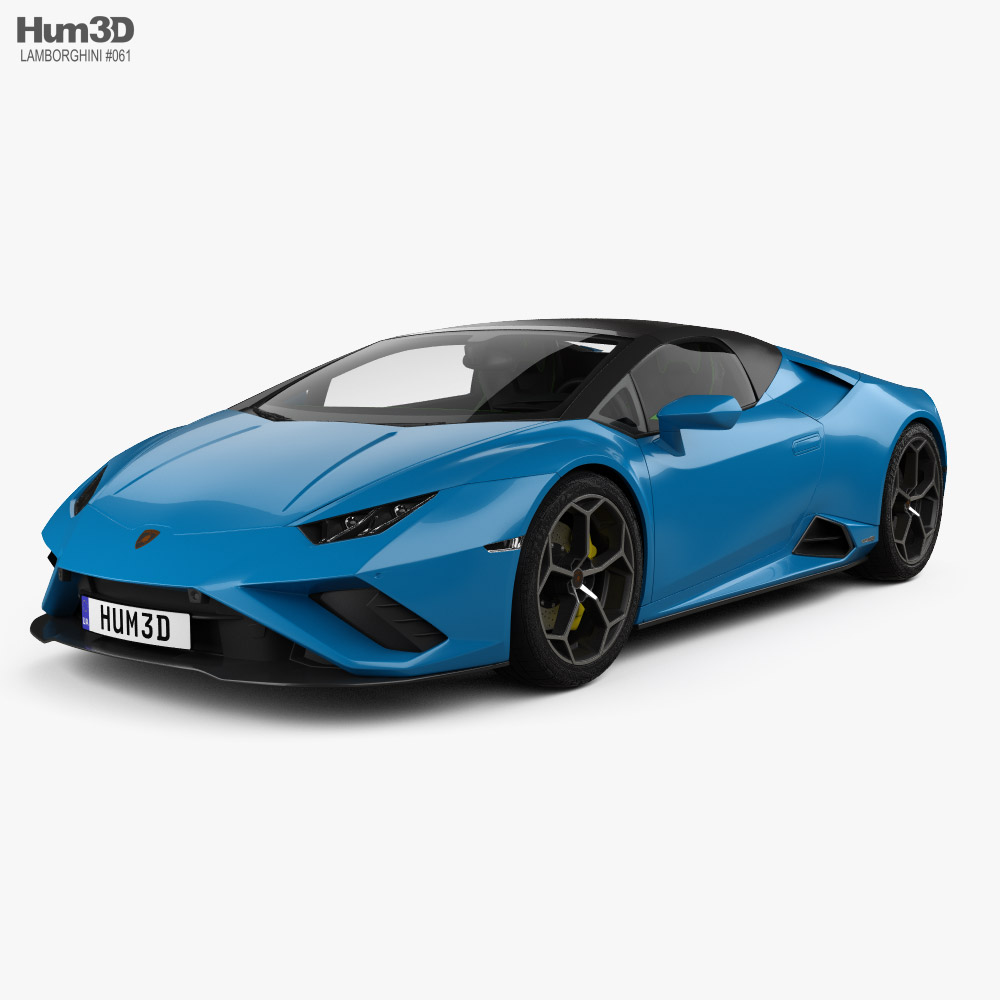 Lamborghini Huracan EVO RWD Spyder with HQ interior 2020 3D model