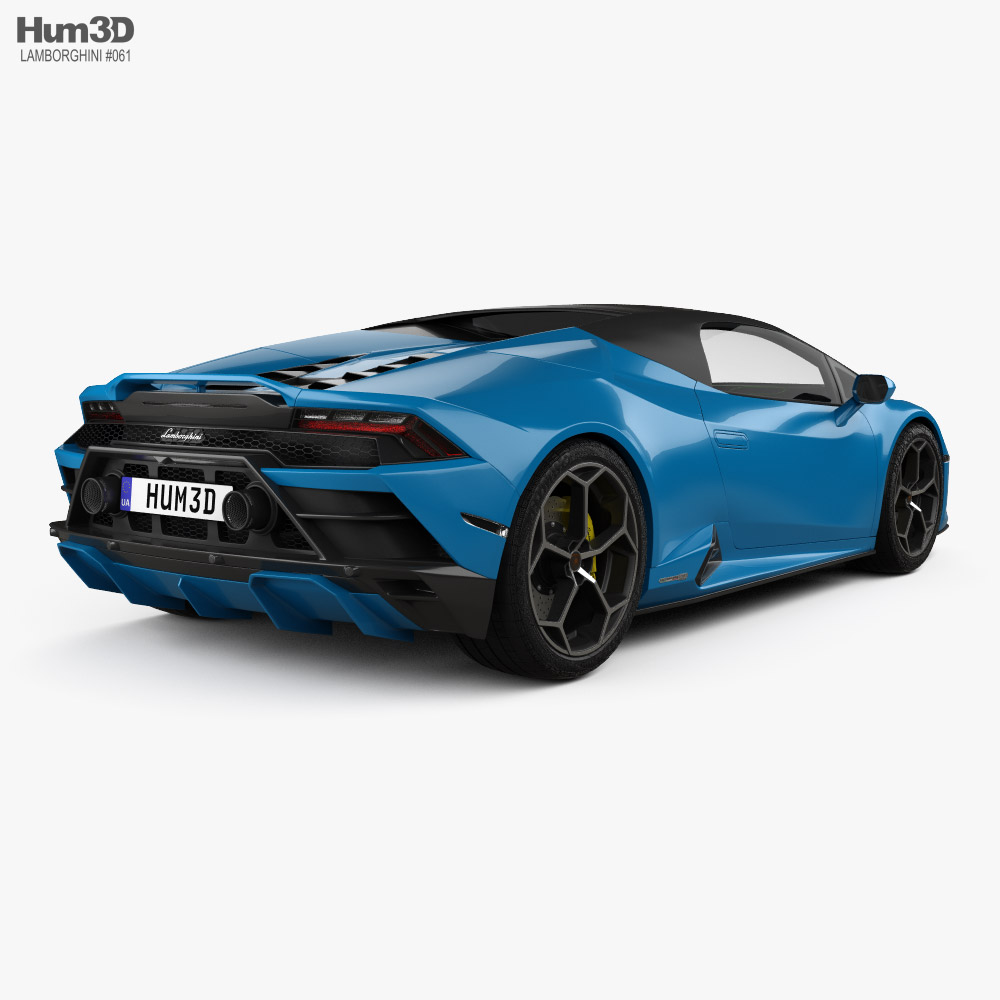 Lamborghini Huracan EVO RWD Spyder with HQ interior 2020 3d model