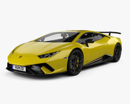 Lamborghini Huracan Performante with HQ interior 2017 3D model