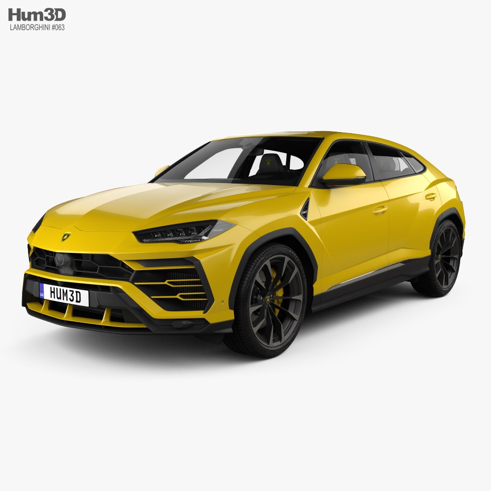 Lamborghini Urus with HQ interior and engine 2019 3D model