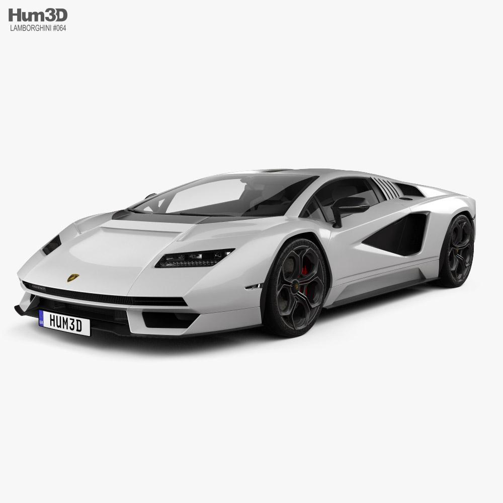Lamborghini Countach (LPI 800-4) 2022 3D model