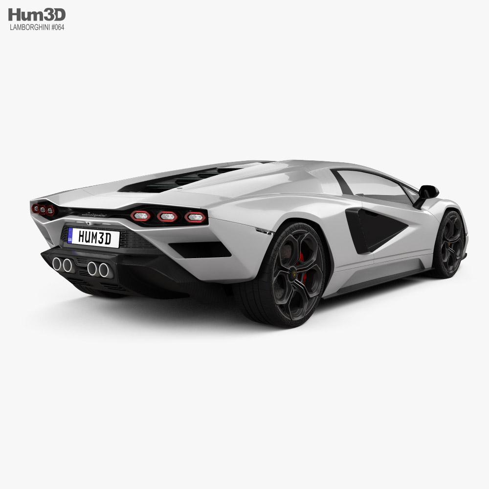Lamborghini Countach (LPI 800-4) 2022 3d model back view