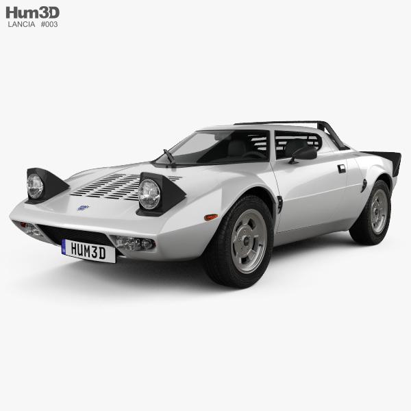 Lancia Stratos 1974 3D model