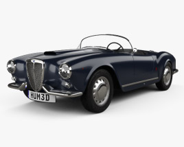 3D model of Lancia Aurelia GT convertible 1954