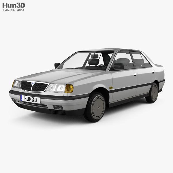 Lancia Dedra (835) 1989 3D model