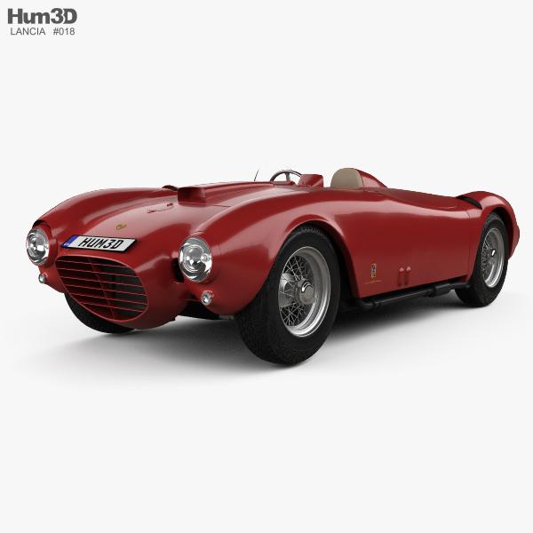 Lancia D24 Pininfarina Spider Sport 1953 3D model
