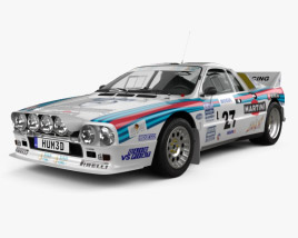 3D model of Lancia Rally 037 WRC Group B 1983