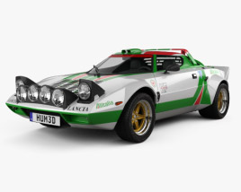 3D model of Lancia Stratos Rally 1972