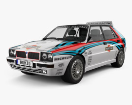 3D model of Lancia Delta HF Integrale Martini 1992