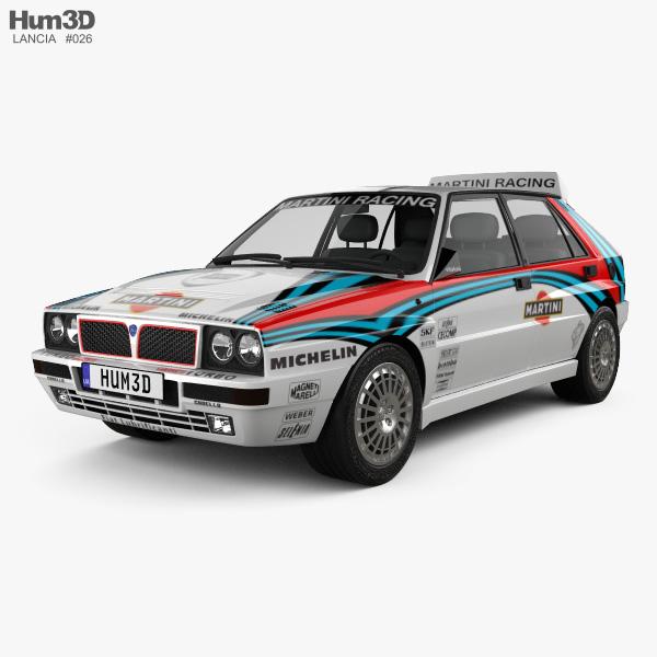 3D model of Lancia Delta HF Integrale Martini 1992