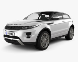 3D model of Range Rover Evoque 2011