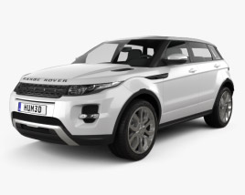 3D model of Range Rover Evoque 2012