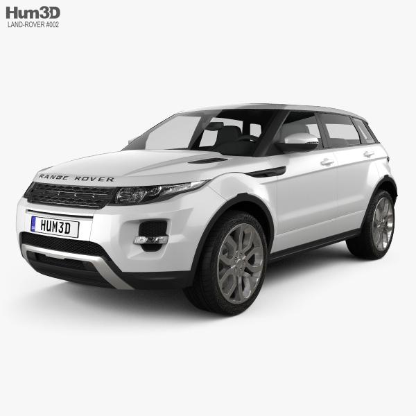 Range Rover Evoque 2012 3Dモデル