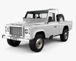 3D model of Land Rover Defender 110 High Capacity Pickup 2011 2011